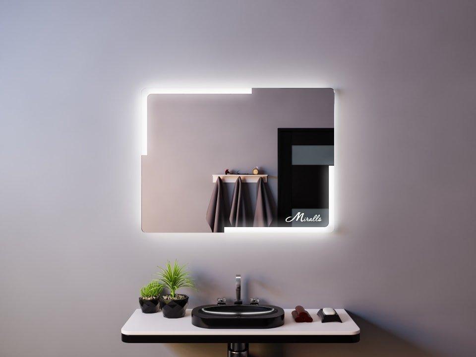Зеркало с подсветкой со скругленными углами Utopia