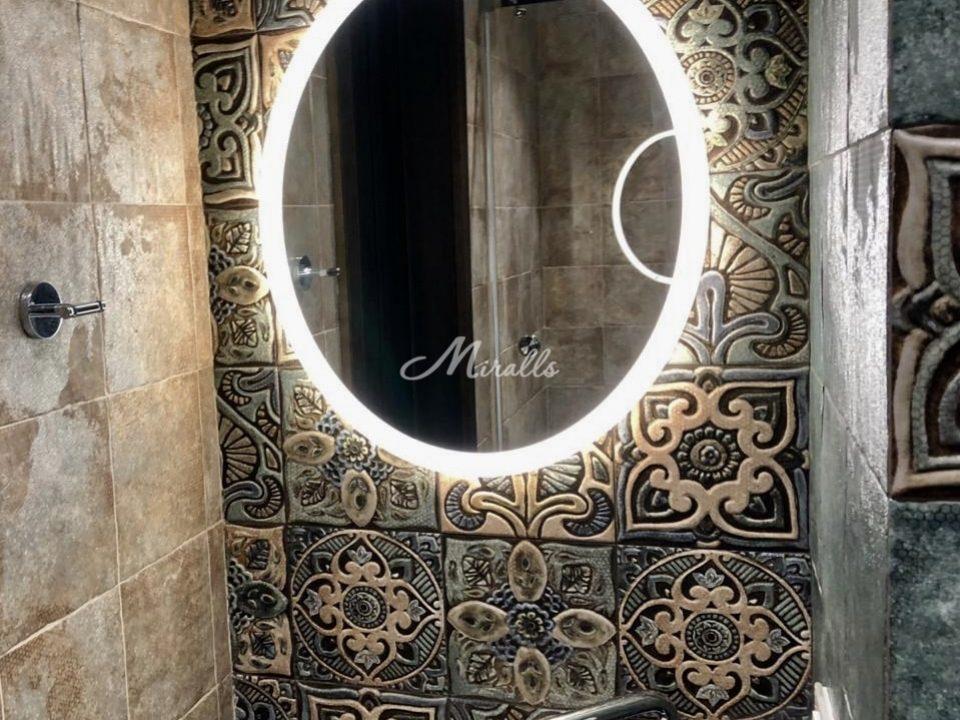 Зеркало Disk с холодным вариантом подсветки