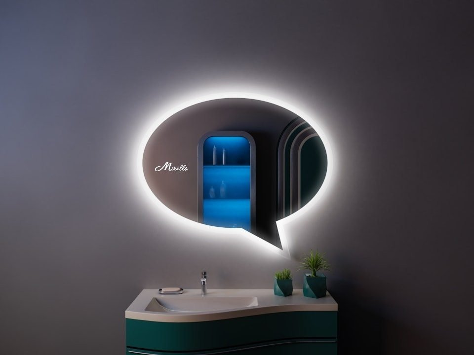 Зеркало с подсветкой Message