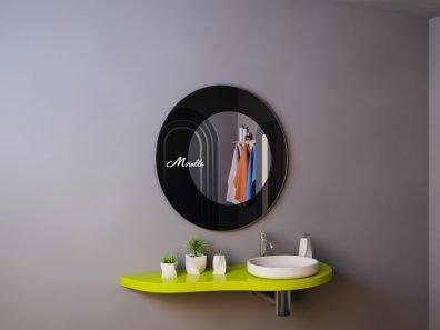 Круглое зеркало без подсветки Saturn