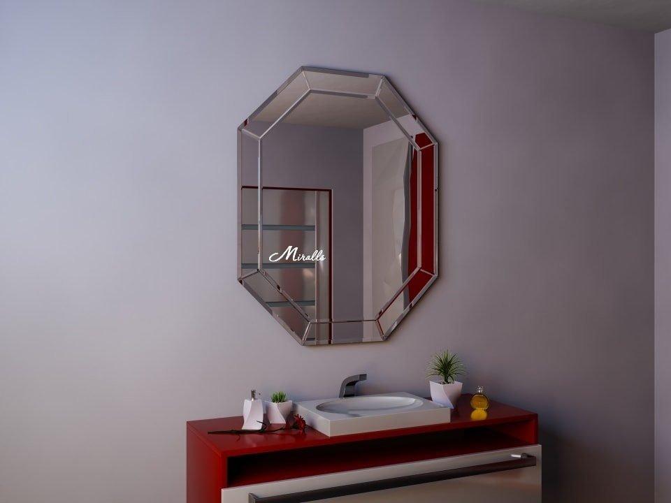 Восьмиугольное зеркало без подсветки Victoria