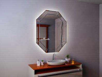 Восьмиугольное зеркало с подсветкой Victoria Extra