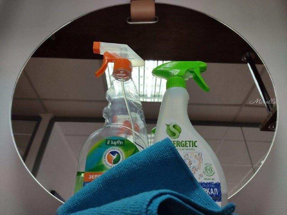 Статья Уход за зеркалами - чистящие средства