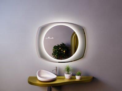 Зеркало со скругленными углами Focus