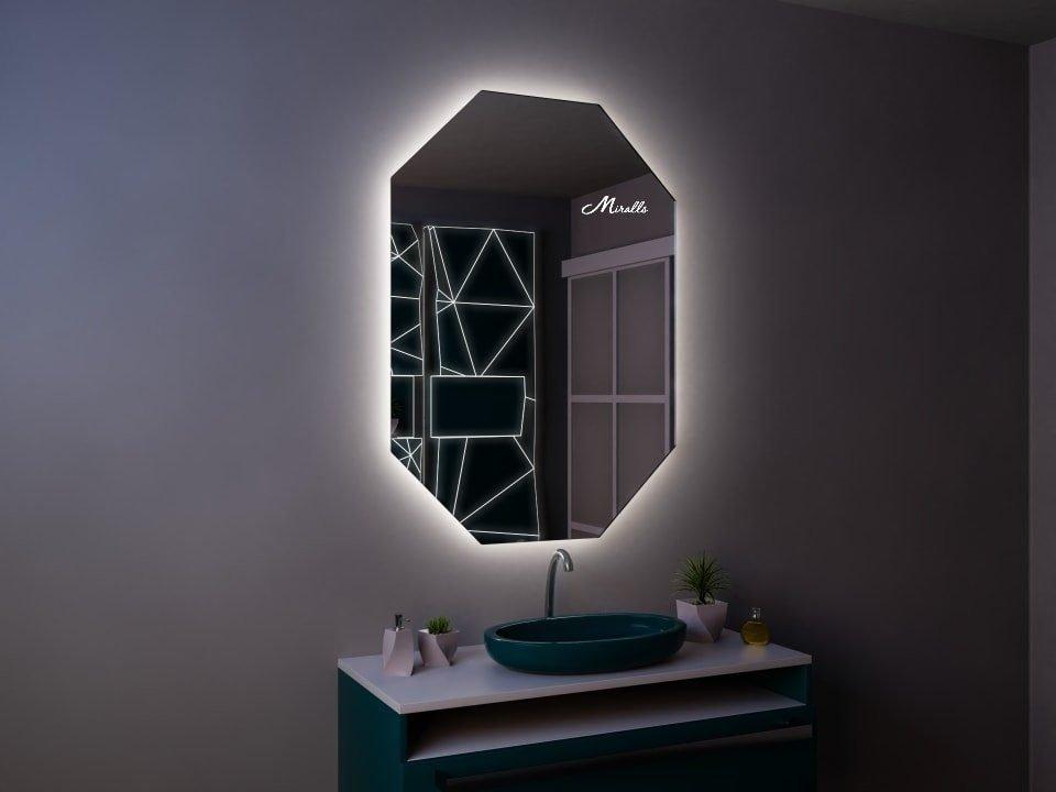 Восьмиугольное зеркало с подсветкой Romeo