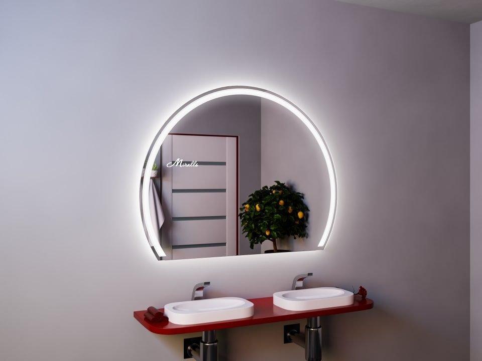 Полукруглое зеркало с подсветкой Totem