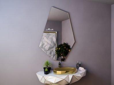 Зеркало без подсветки необычной формы Iceberg