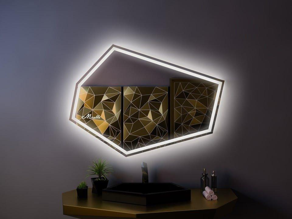 Многоугольное зеркало с подсветкой Iceberg Plus