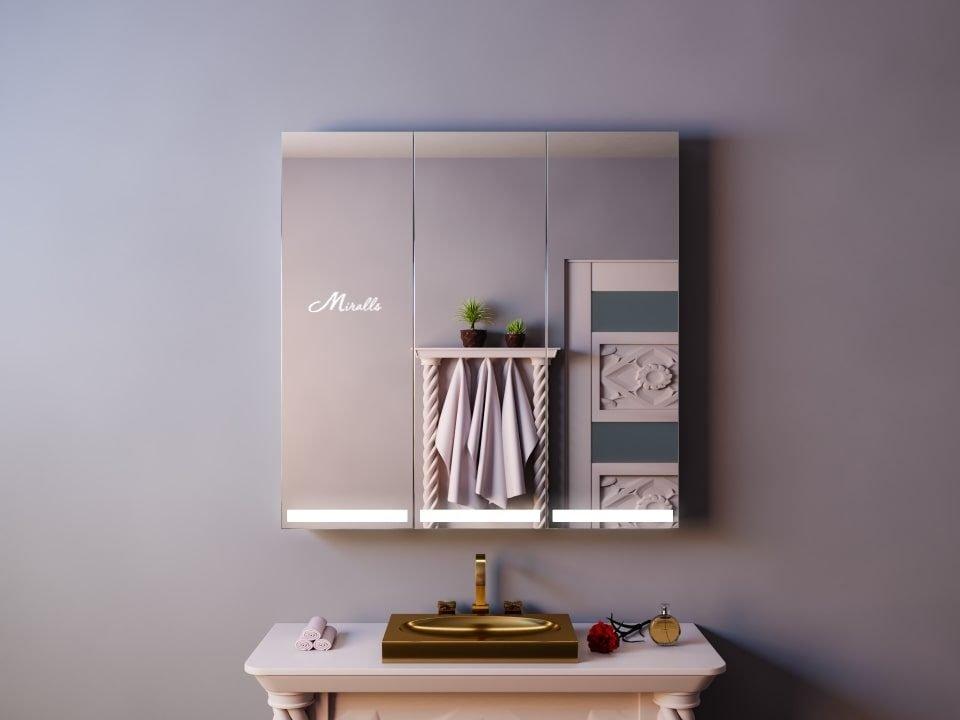 Зеркальный шкаф с подсветкой Troya