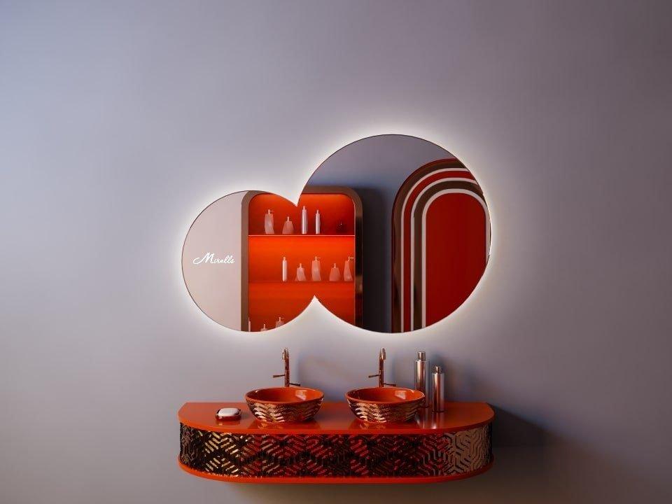 Зеркало из двух кругов Octavia Extra