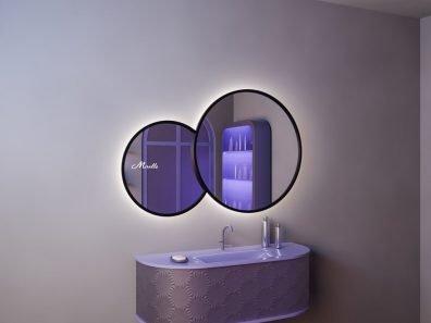 Двойное зеркало с подсветкой Solaris Extra