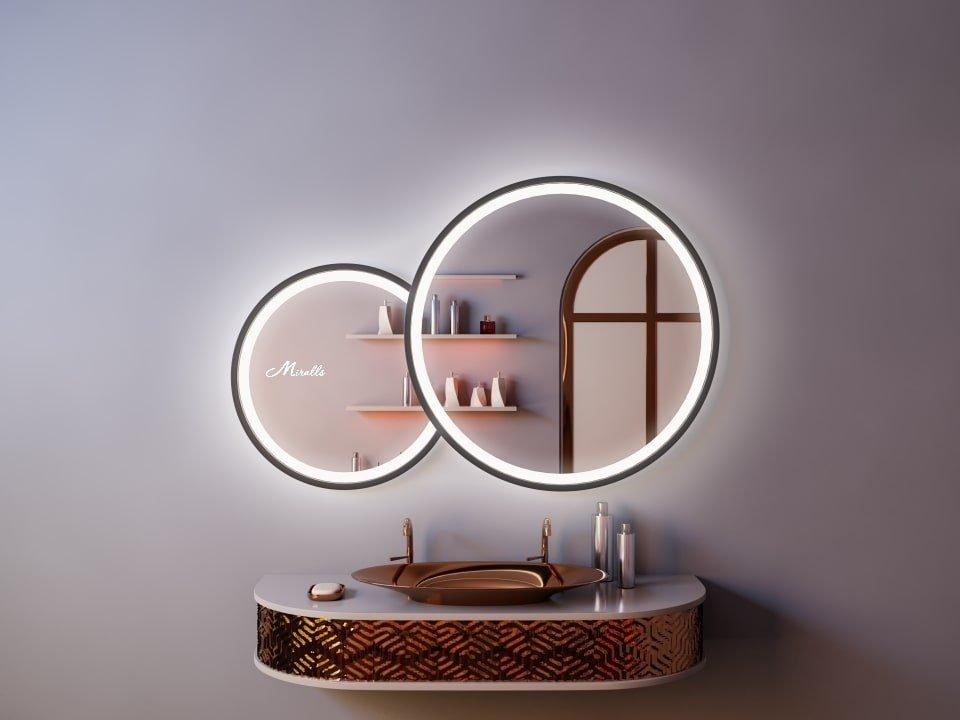 Двойной зеркало с подсветкой Solaris Plus