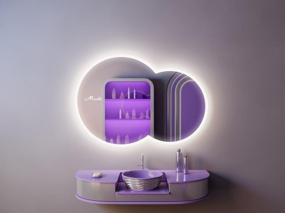 Зеркало с подсветкой необычной формы Soul