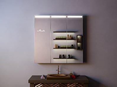 Зеркальный шкаф с подсветкой Hugo