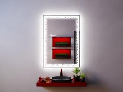 Зеркало с интерьерной и фронтальной подсветкой Lotta