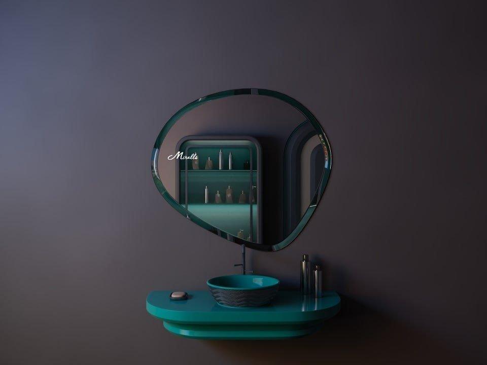 Асимметричное зеркало без подсветки Neptune