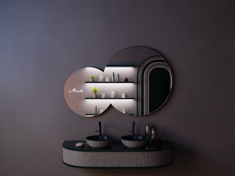 Зеркало без подсветки необычной формы Octavia