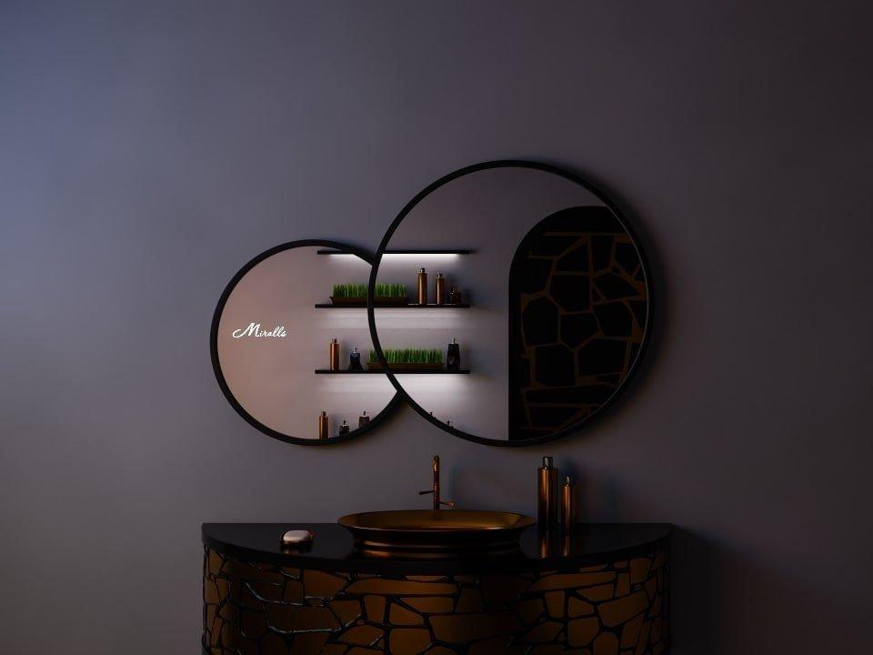 Зеркало в форме облака в деревянной раме Solaris
