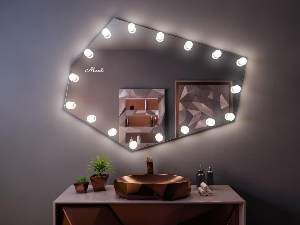 Зеркало с лампочками Alexa