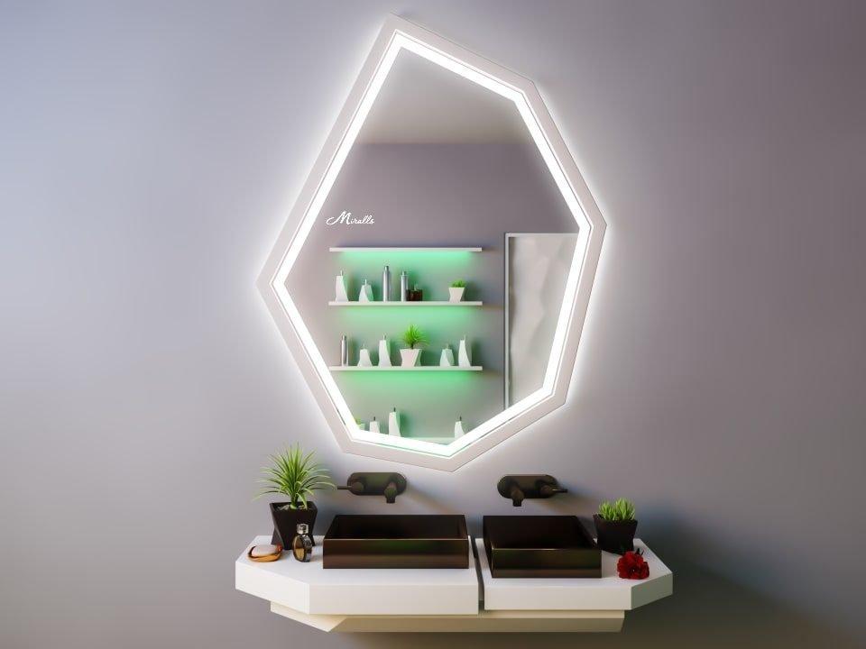 Зеркало с фронтальной подсветкой Agat Plus