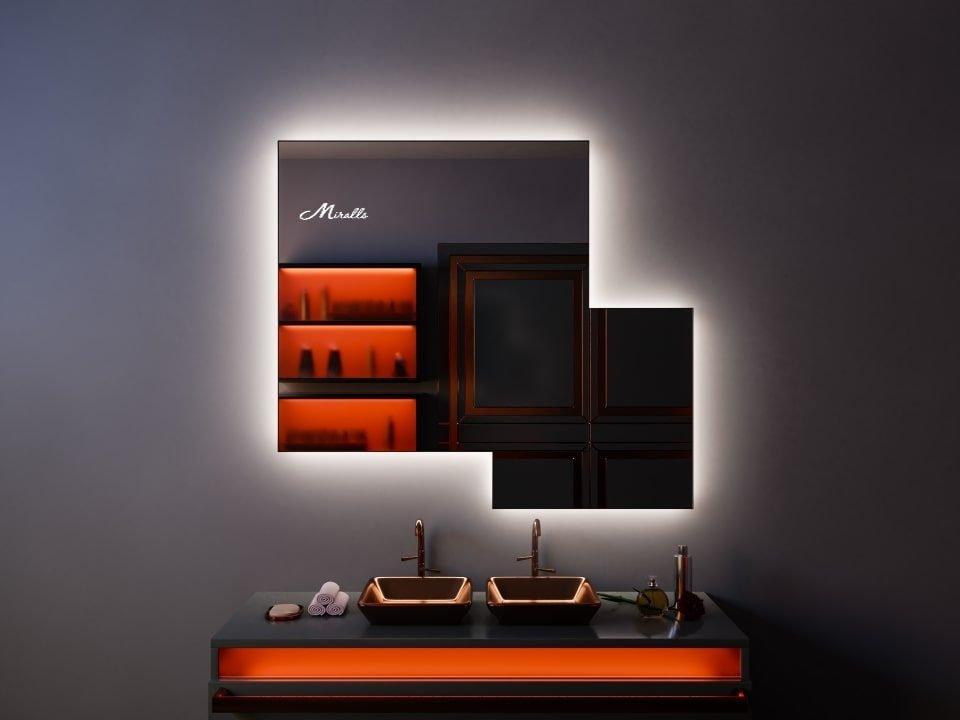 Двойное зеркало с интерьерной подсветкой Dalian Extra
