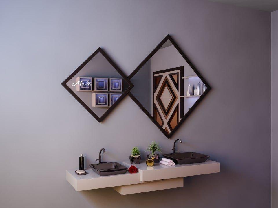 Двойное ромбовидное зеркало Evita