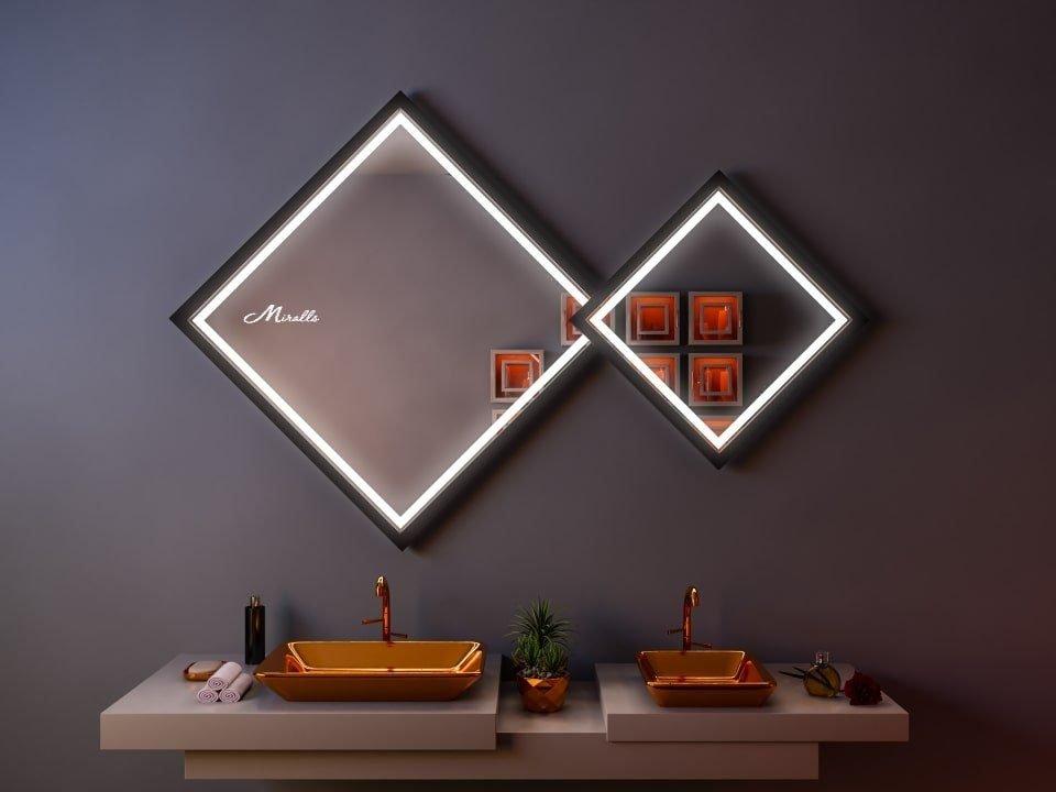 Двойное ромбовидное зеркало Evita Plus