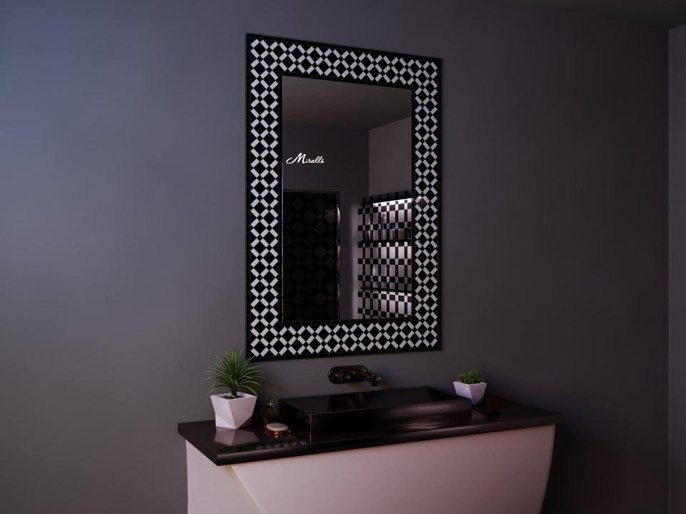 Эксклюзивное зеркало в мозаичной рамке Matrix