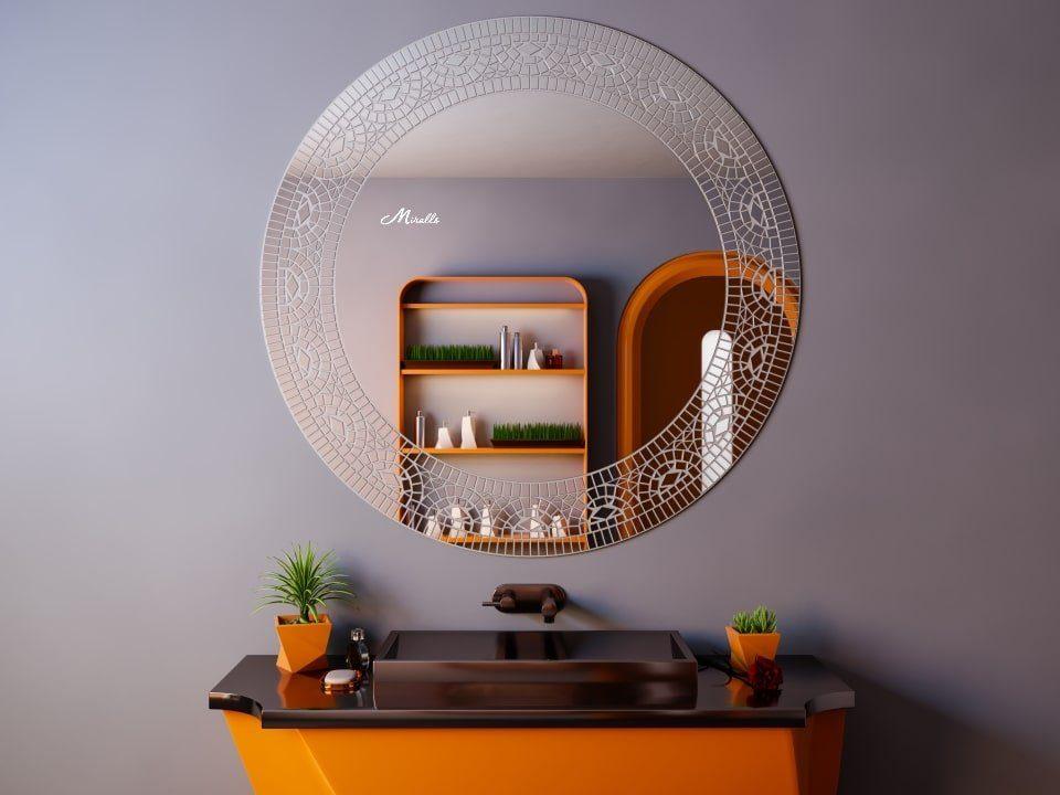 Круглое зеркало в мозаичной рамке Mosaic