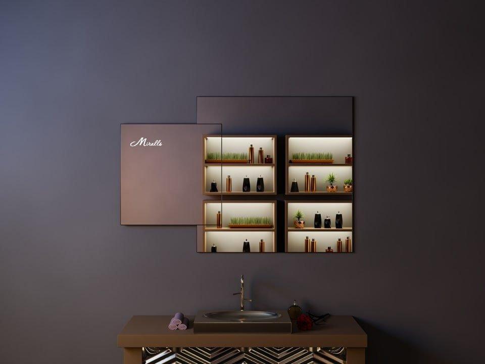 Фигурное зеркало в стиле минимализм Orlando