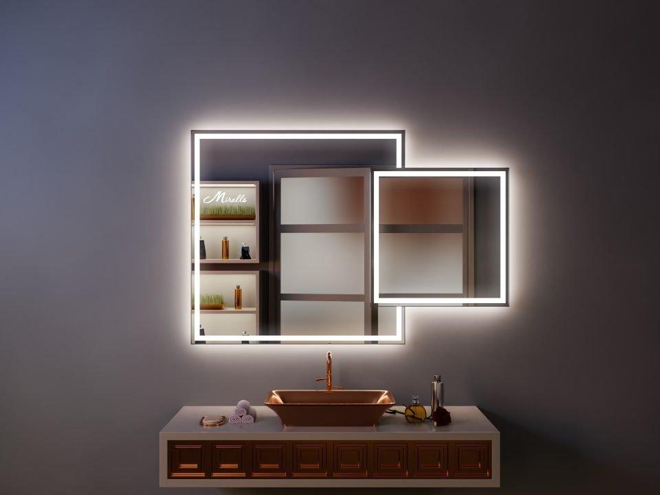 Двойное квадратное зеркало Orlando Plus