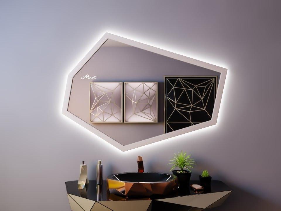 Зеркало с подсветкой в деревянной раме Proud Extra