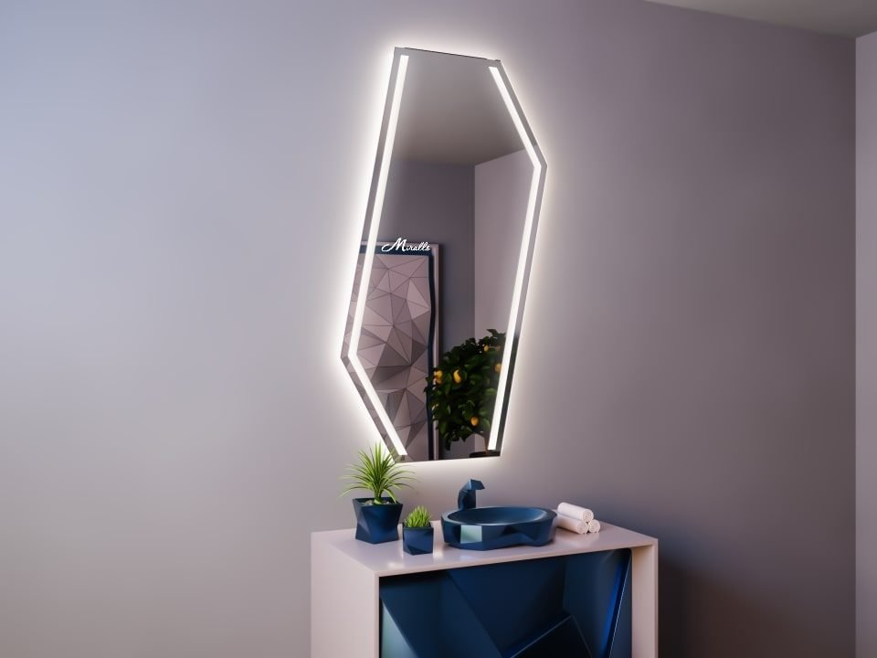 Хай-тек зеркало с подсветкой Cold