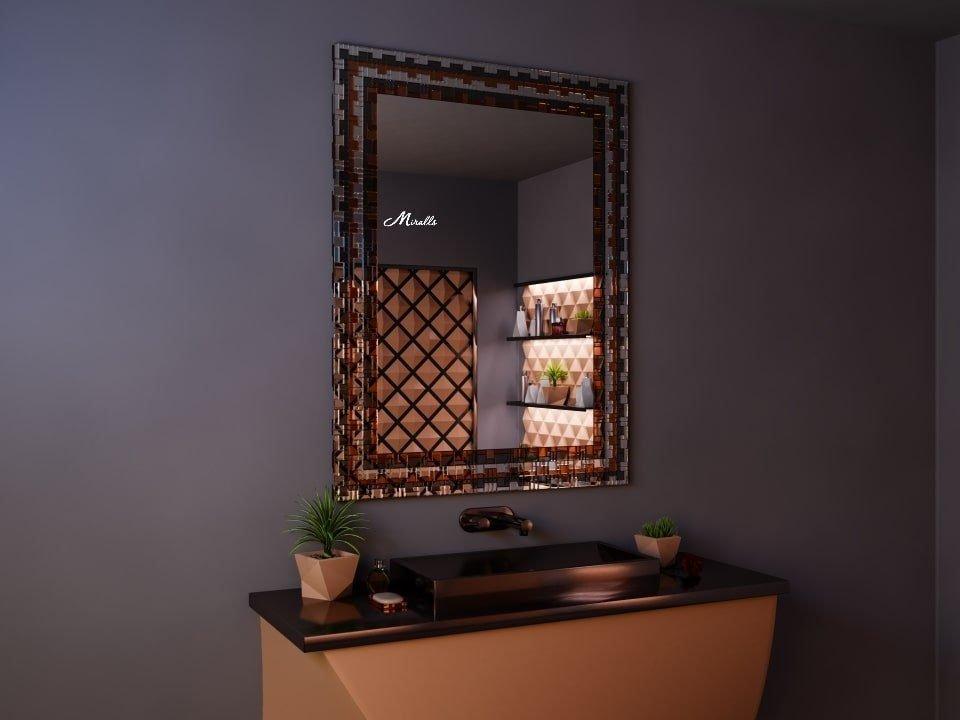 Зеркало в цветной мозаичной раме Sahara