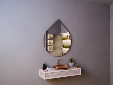 Каплевидное зеркало Art