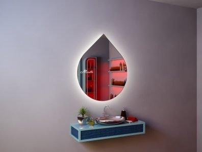 Зеркало необычной формы с подсветкой Art Extra