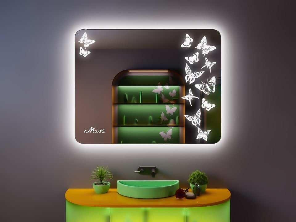 Зеркало с подсветкой в эко-стиле Dream