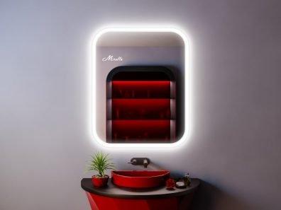 Зеркало с подсветкой в стиле модерн Kelly
