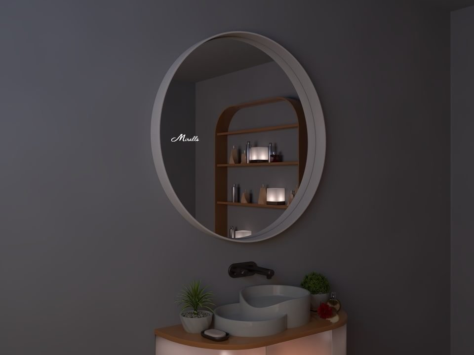 Зеркало в деревянной раме Oasis