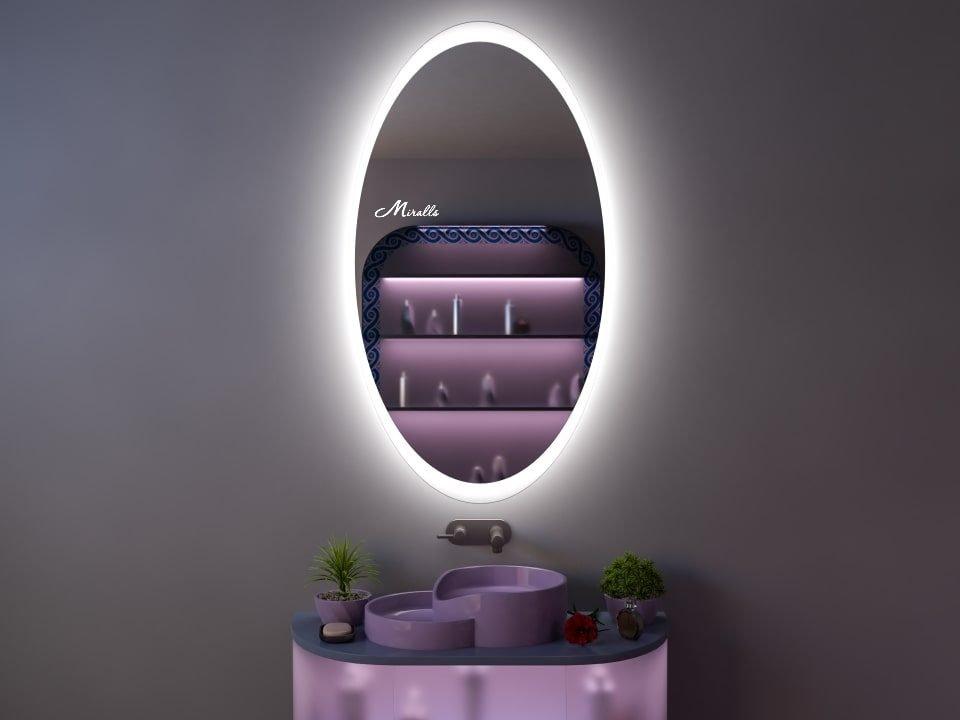 Овальное зеркало с подсветкой Glow
