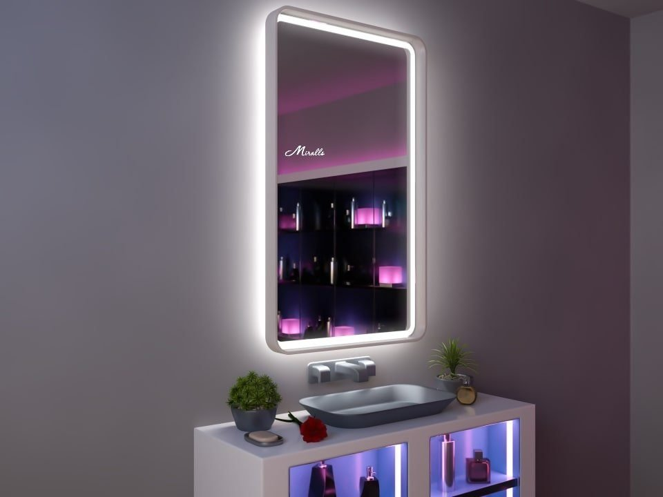 Зеркало с подсветкой в раме Amadeus Plus