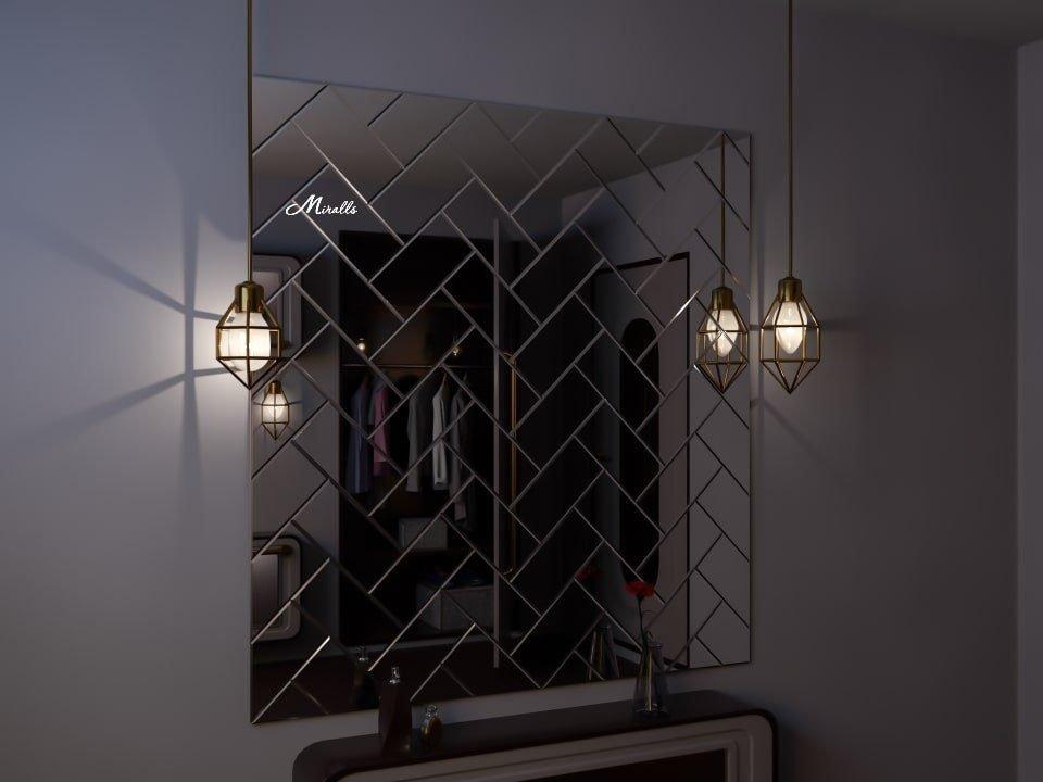 Зеркальное панно Modest