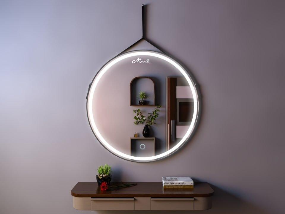 Эксклюзивное зеркало с подсветкой на ремне Aida