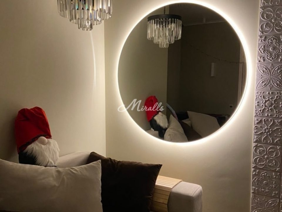 Зеркало Eclipse в ЖК Silver