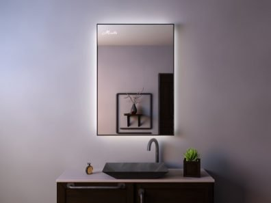 Зеркало с подсветкой в тонкой раме Brams Extra