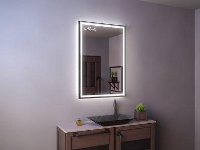 Зеркало с подсветкой в тонкой раме Brams Plus