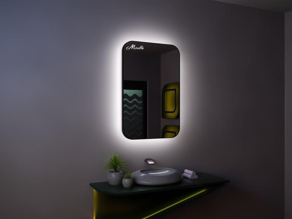 Зеркало с подсветкой в тонкой раме Maison Extra