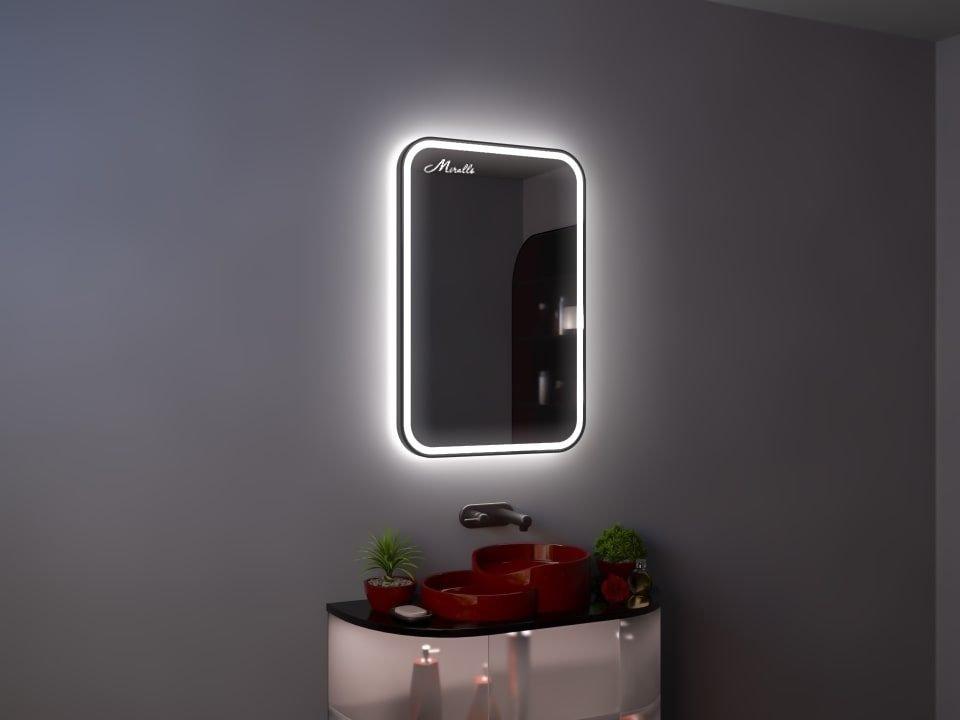 Зеркало с подсветкой в тонкой раме Maison Plus