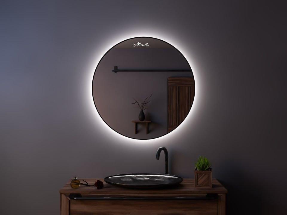Зеркало с подсветкой в тонкой раме Medea Extra