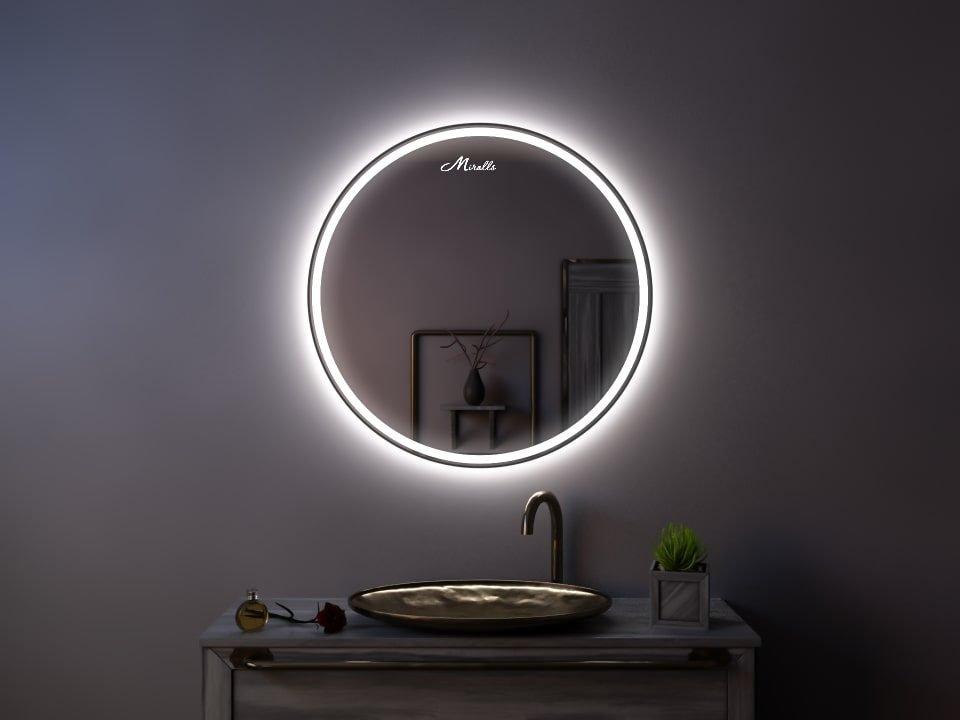 Зеркало с подсветкой в тонкой раме Medea Plus